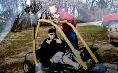 Josh & Brother with his Go-Kart